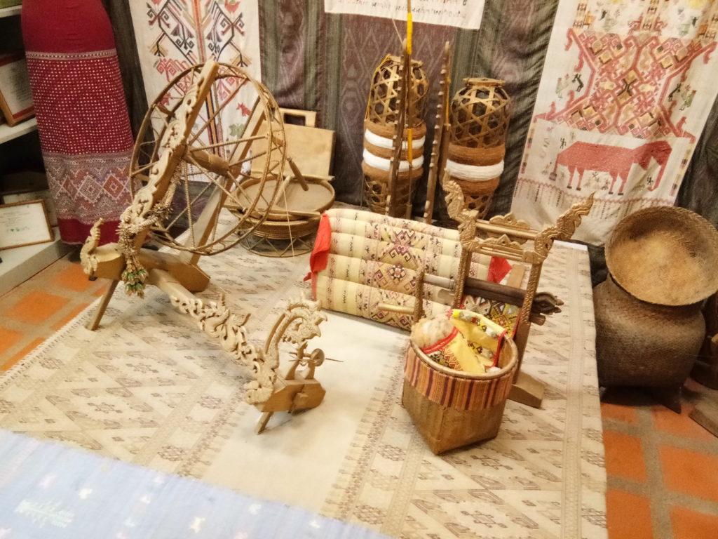 Handwoven cotton fabrics Na Ta Po Ban Rai Uthai Thani Thailand