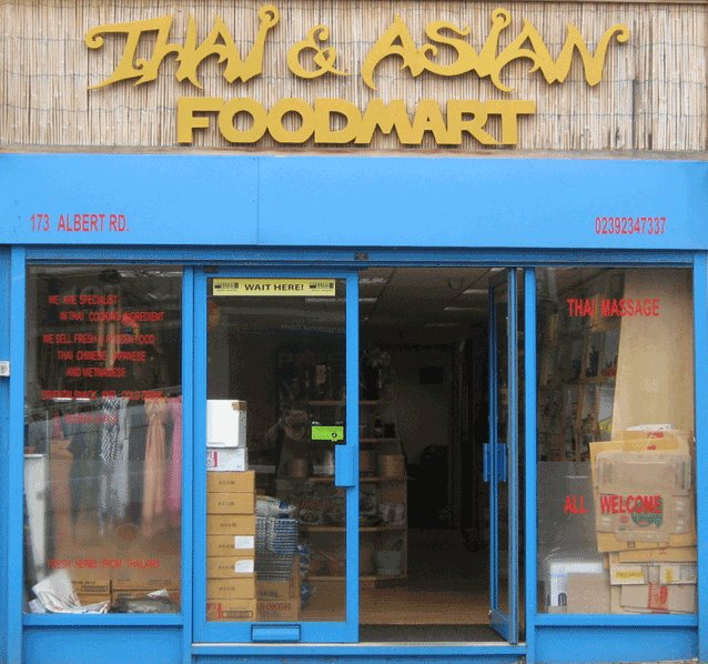 Imported Thai food products Portsmouth, Hampshire the south of England