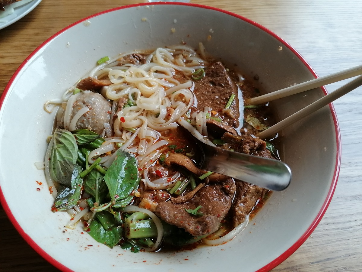 Thai beef noodle soup Portsmouth the south coast of England